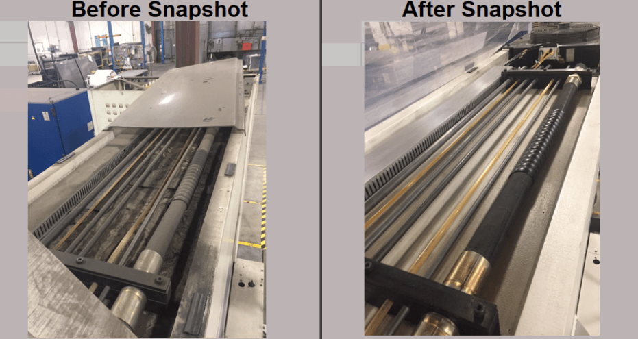 Before and After of Autonomous Maintenance on Fabricating Machines at Counterpart in South Dakota